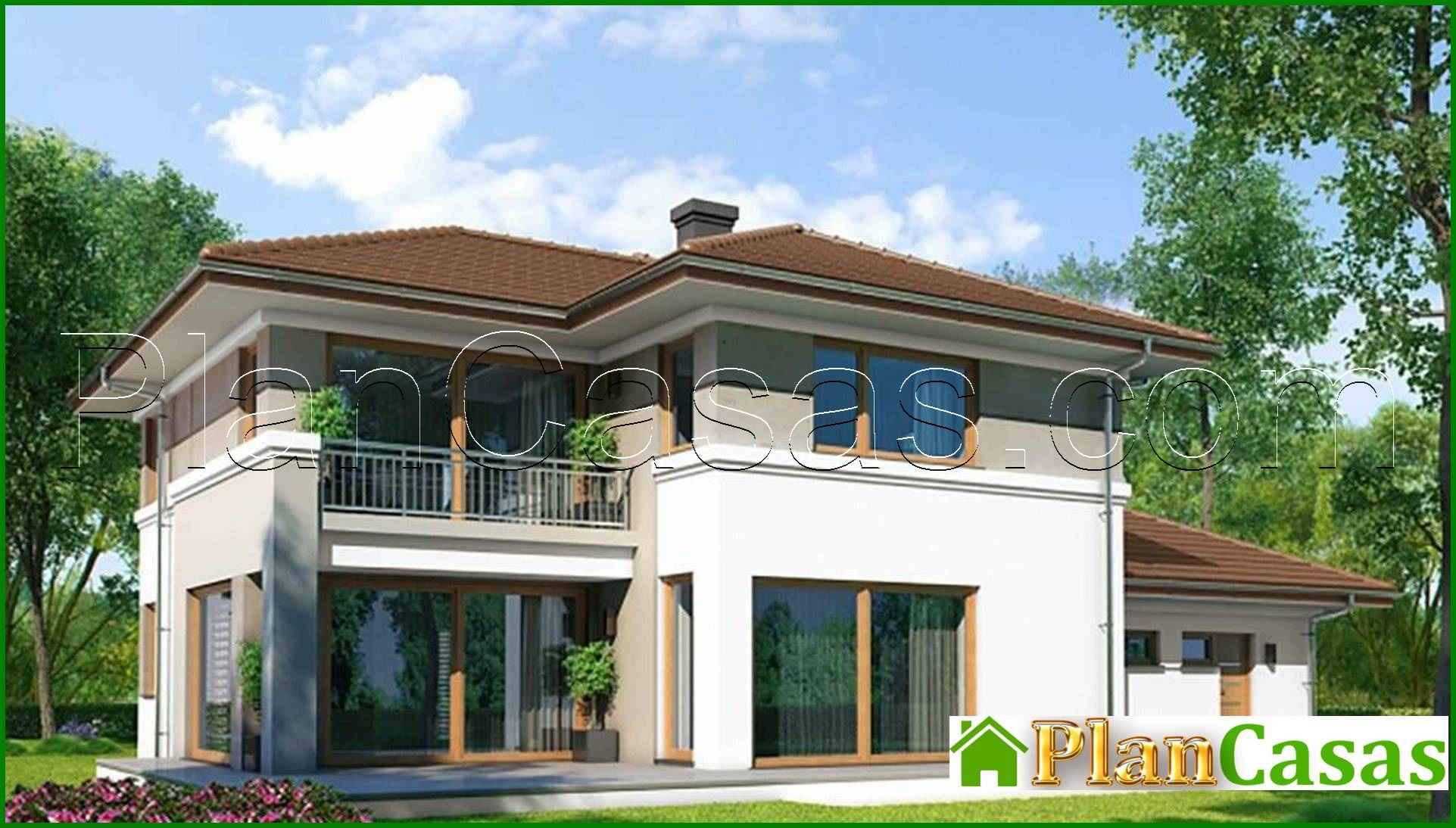 267 Modern Two Story House In A Classic Style Plancasas Shop